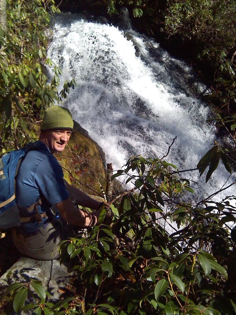 Jim Parham At Ledbetter Falls In The Nantahala Gorge