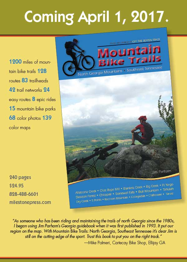 The Newest Mountain Bike Guidebook For GA & TN