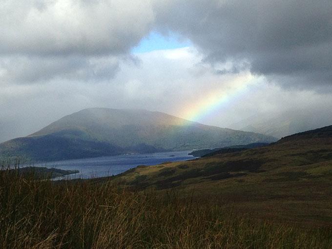 Rainbow Over Loch Lomond Horiz